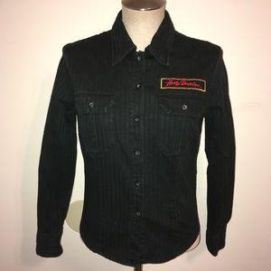 Harley-Davidson Black Embroidered Shirt